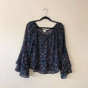 Lily White printed boho style top
